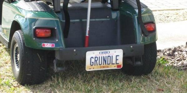 golf car license plate