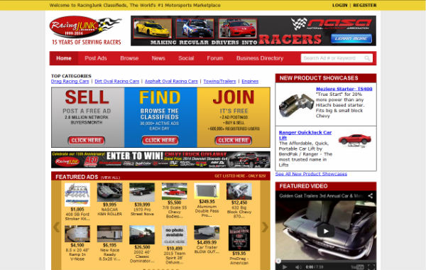 racingjunk website